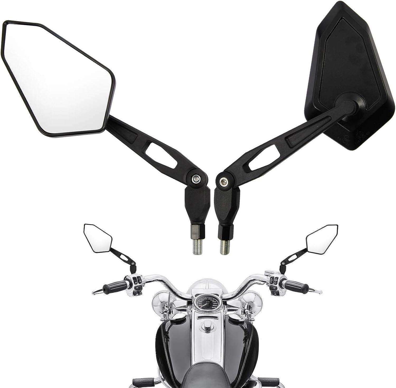 Modell 1 Motorrad Rueckspiegel Universal 8mm 10mm Motorrad Spiegel E-Pruefzeichen Rueckseitenspiegel Seitenspiegel Universal Kompatibal mit MT 07 MT 09 SV650 GSX-S1000 Ersatz