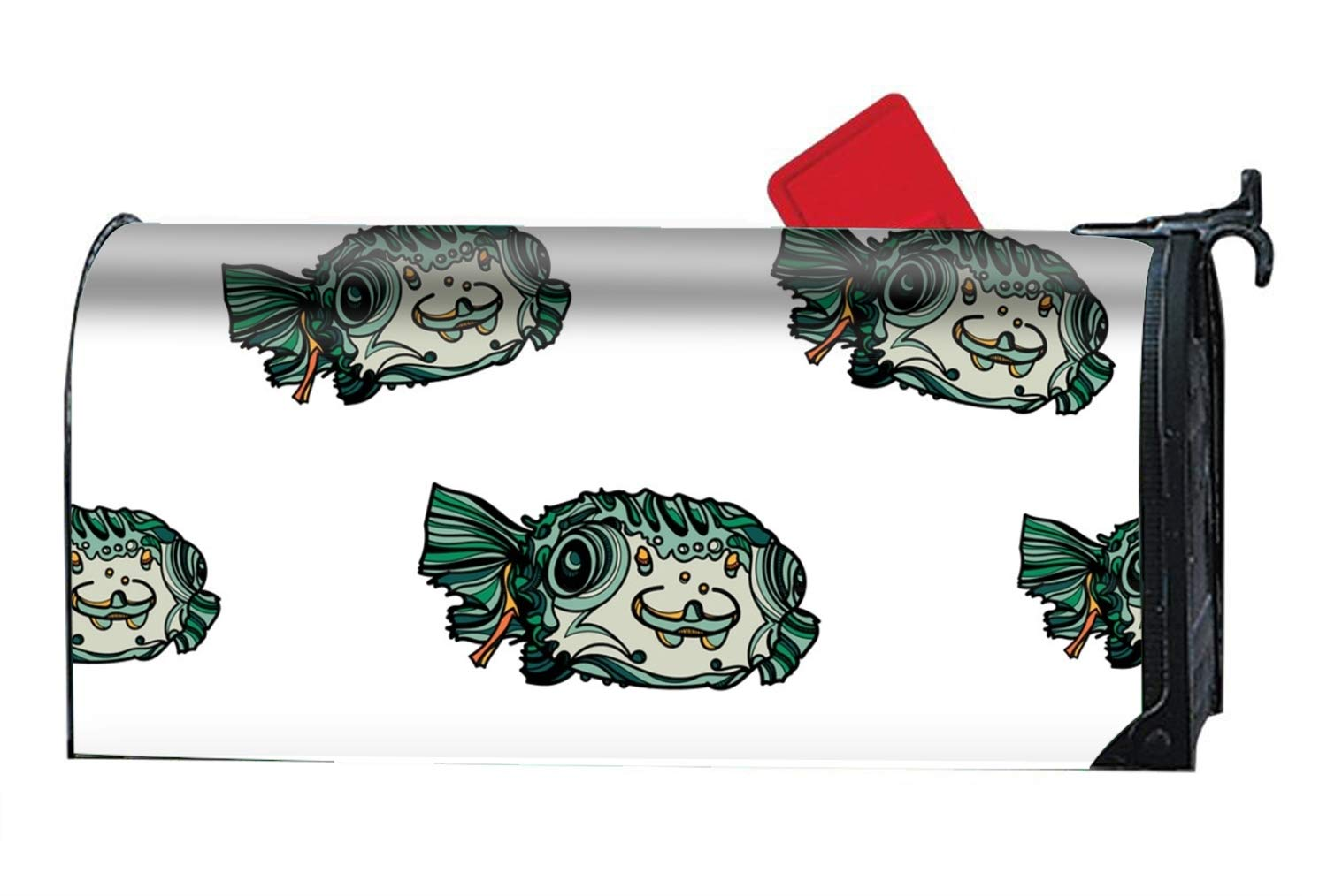 buxten Unique Mailbox Makeover Green Fish Lightweight Attractive Mailbox Covers Garden Magnetic
