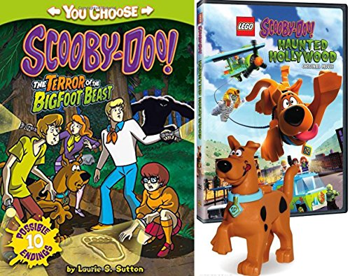 Lego Scooby-Doo Terror of the Bigfoot Beast Book + Figure & Movie Pack Exclusive Haunted Hollywood DVD Animated Feature Bundle (Spongebob Superhero Movie)