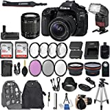 Canon EOS 80D DSLR Camera + EF-S 18-55mm f/3.5-5.6 IS STM Lens + 2Pcs 32GB Sandisk SD Memory + Automatic Flash + Battery Grip + Filter & Macro Kits + Backpack + 50 Tripod + More