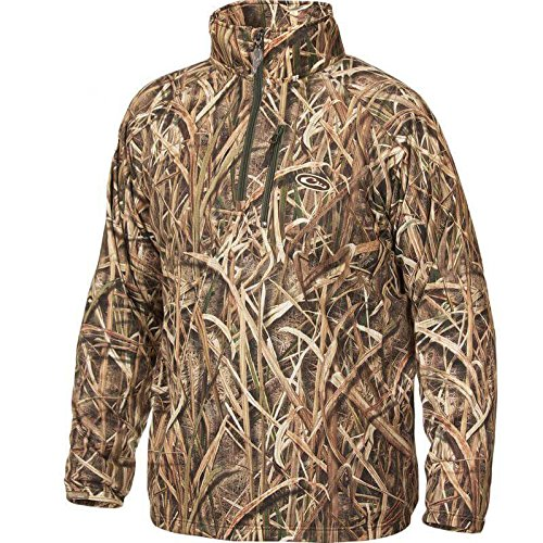 Drake MST BreathLite 1/4 Zip Pullover (Mossy Oak Shadow Grass Blades) (Large)