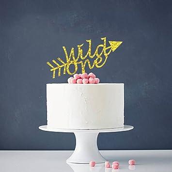 Amazoncom Wild One Cake Topper Babys First Birthday Party