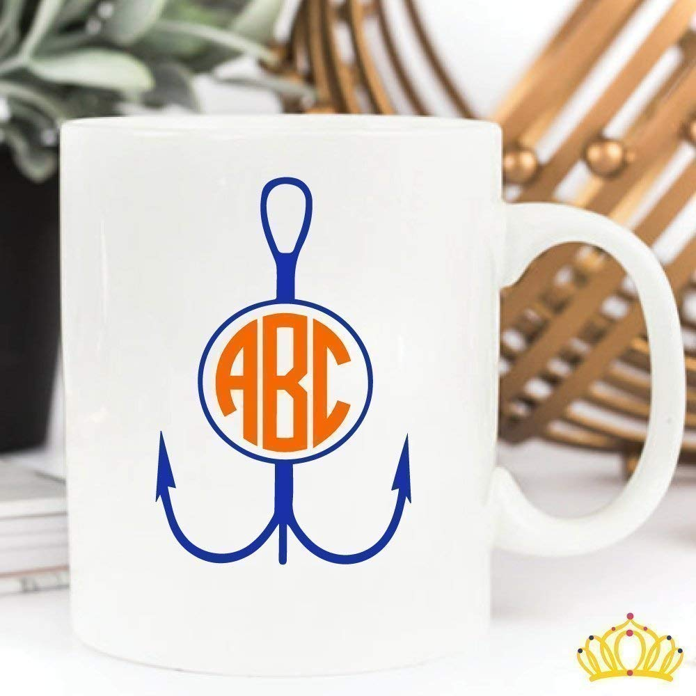 Circle Monogram for Coffee Cups Laptops 12 COLORS Car Window Vinyl Decal Sticker