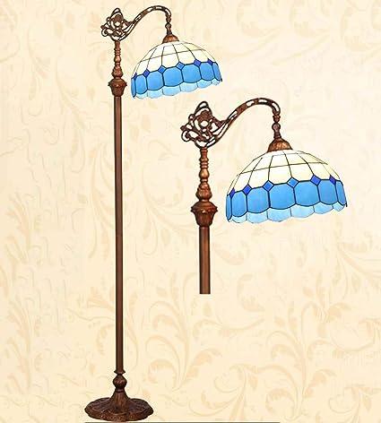 Glight Luces de pie Estilo Tiffany, vidrieras artesanales ...