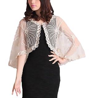 67be43649 Bolero Mujer Fiesta Elegantes Verano Cardigan Encaje Transparente ...