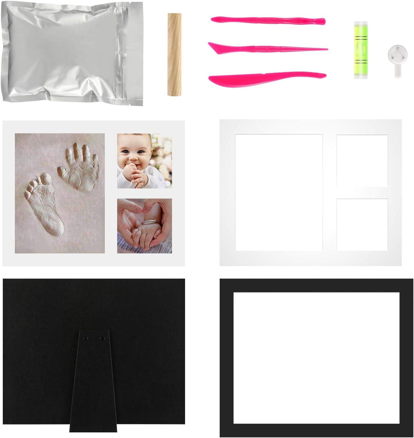 Marco de Fotos para beb/é Regalo para Reci/én Nacidos Marco de Fotos de Huellas de Beb/é Negro Onewall