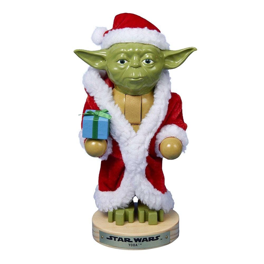 Kurt Adler Yoda in Santa Robe Nutcracker, 9-Inch