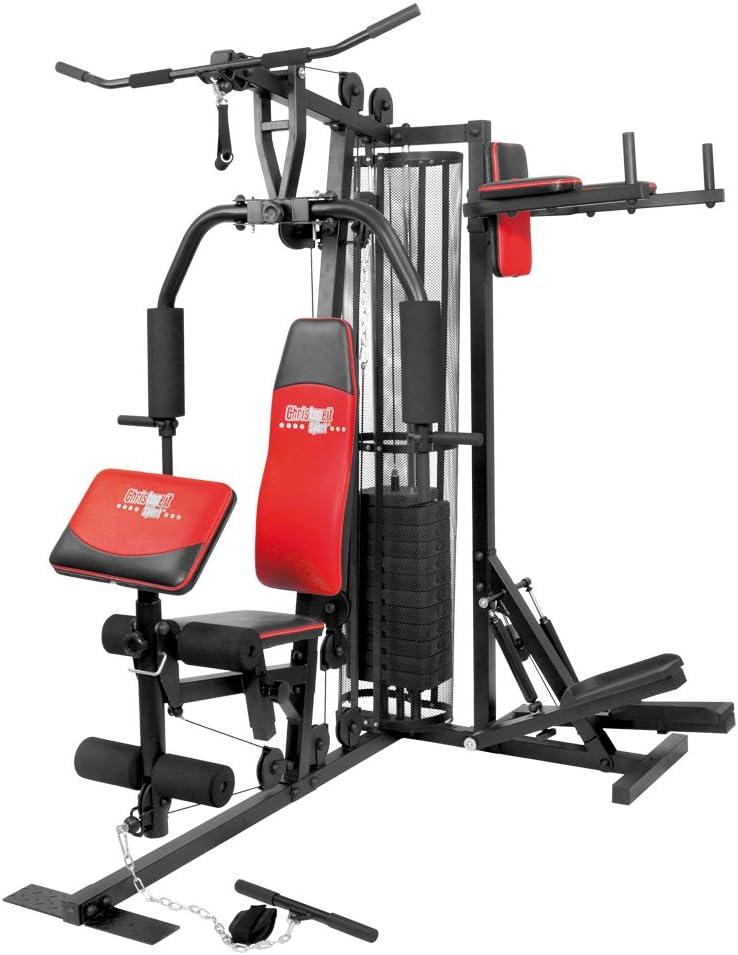 2 x 5 kg Christopeit Heimsport Zusatzgewichte f/ür Artikel Profi Center De Luxe 9388