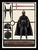 STAR WARS スターウォーズ (映画公開記念『ザ・ライズ・オブ・スカイウォーカー』) - The Rise of Skywalker/Kylo Ren Model/額入りフォトボード/インテリア額 【公式/オフィシャル】