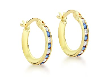 c0afa867a0acc Carissima Gold 9 ct Yellow Gold with Cubic Zirconia Creole Earrings
