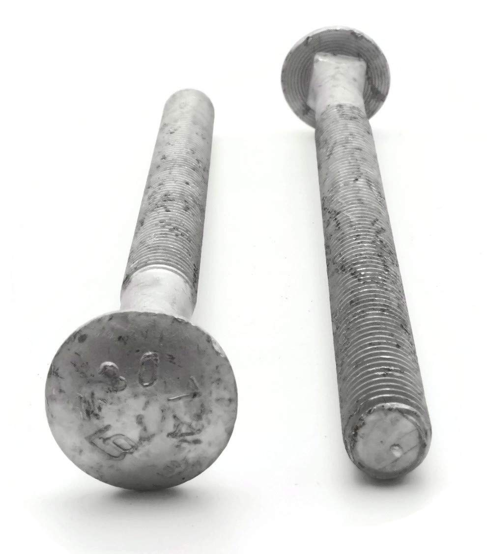 1//2-13 x 8 PT Carriage Bolt Hot Dipped Galvanized Qty-100