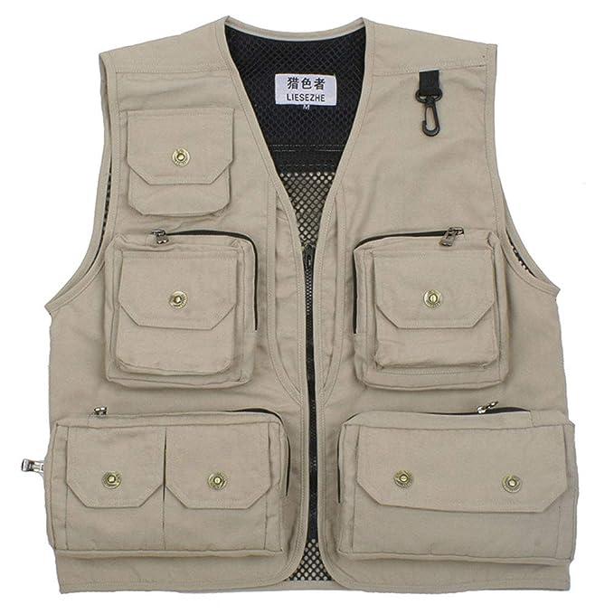 Gilet Gilet Gilet con Tasche Multiple Gilet A Abbigliamento