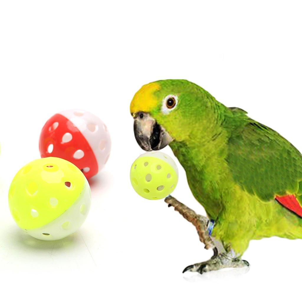 Set di 3 Palline in plastica per Gatti llwei258 per pappagalli criceti Bicolore Non tossiche con campanella