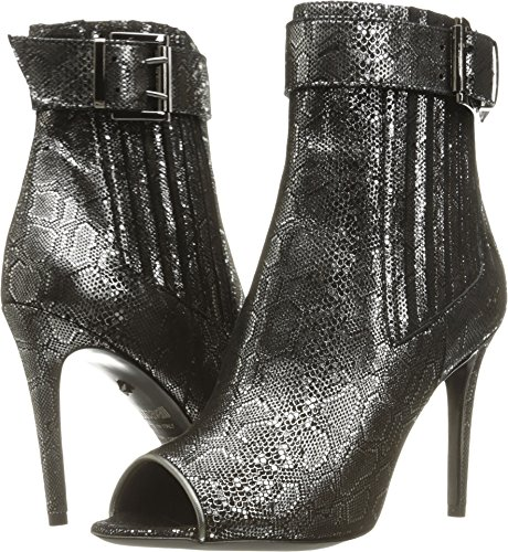 Metallic Black Womens Just Cavalli Peep Toe Bootie fECEPpxw