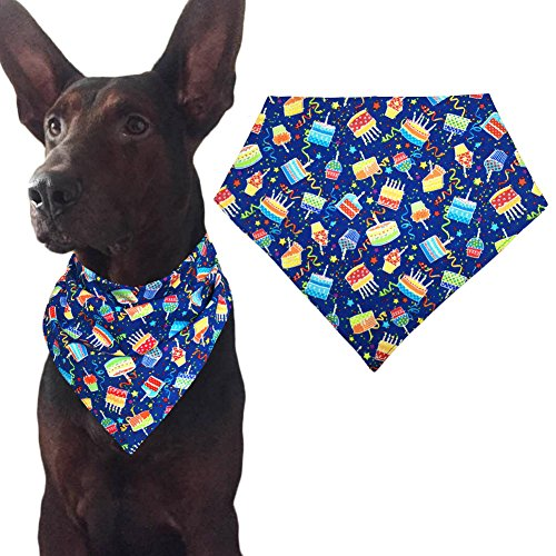Dog Birthday Bandana Triangle Bibs Scarf Accessories for Cats Pets Animals - (Cat Birthday Cakes)