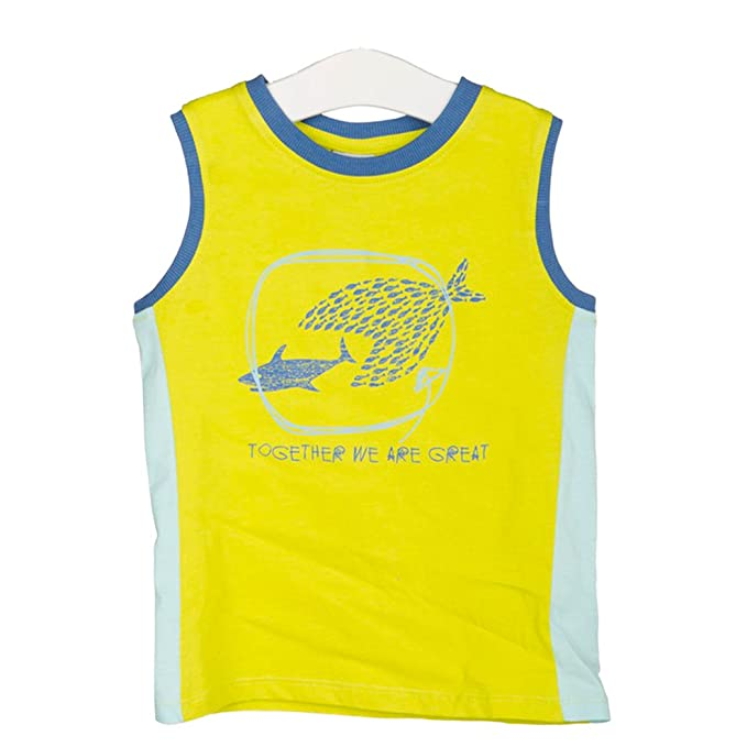 e8e4b058a58e Amazon.com  Tuc Tuc Little Boys  Fish Attack Ringer Tank Top  Clothing