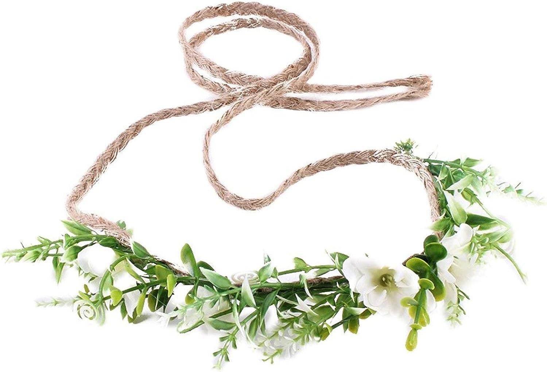 Ever Fairy Tieback Flower Crown Flower Headband Baby Girl Toddler Woodland Green Leaf Floral Crown Wreath