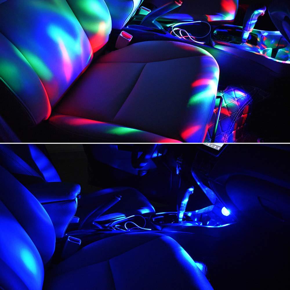 luz estrobosc/ópica de seta KETIEE Mini luz de ambiente USB para coche para decoraci/ón de fiestas y vacaciones bola de discoteca LED para fiesta proyector de decoraci/ón RGB giratorio