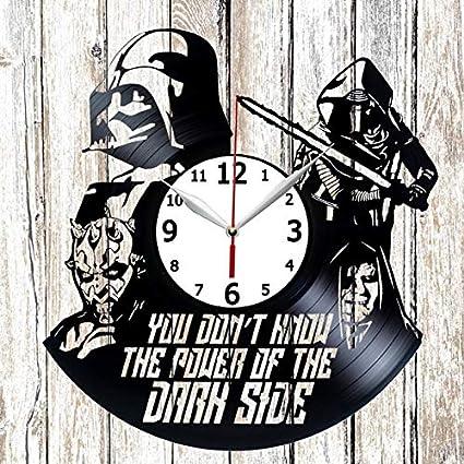 Star Wars Vinel Record Wall Clock Home Art Decor Original Gift Unique Design Vinyl Clock Black