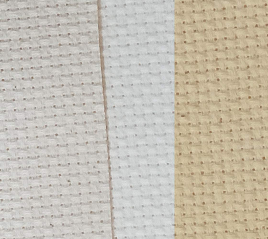 20 by 20 Inch 12 by 18 Inch 11 Count White Mukum 6Pcs Classic Reserve Aida Cloth Cross Stitch Fabric 12 by 12 Inch