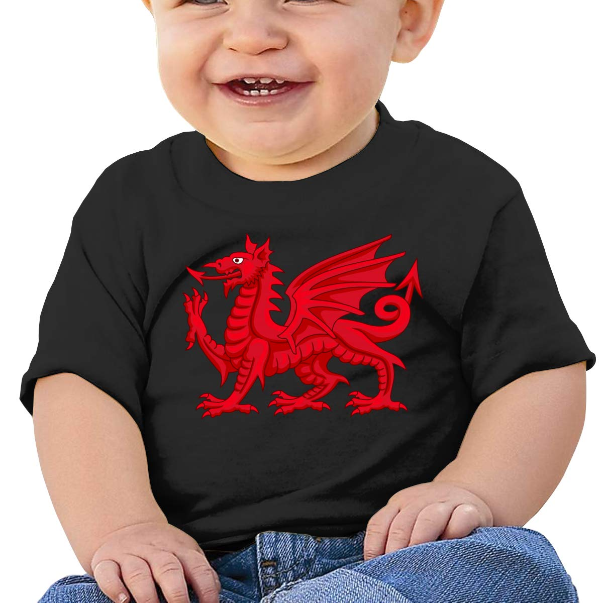 Welsh Dragon Newborn Baby Short Sleeve Crew Neck T Shirts 6-18 Month Tops