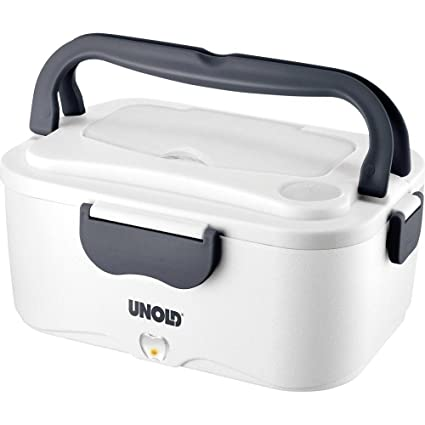 Unold 230.338 Fiambrera Lunch Container Negro, Blanco Acero Inoxidable 1,5 L - Fiambreras (Lunch Container, Adulto, Negro, Blanco, Acero Inoxidable, ...