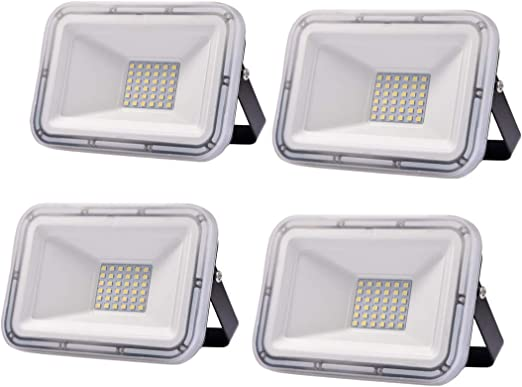 4 Pack 30W Proyector LED exterior IP67 Impermeable Foco exterior ...