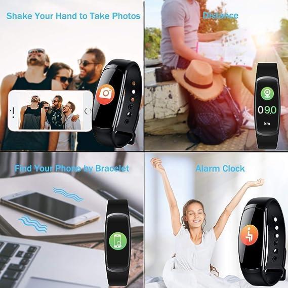 Amazon.com : Fitness Tracker, Pedometer Sports Activity Tracker Bracelet IP67 Waterproof Wireless Smart Wristband Smart Watch Witch Heart Rate Monitor/Sleep ...