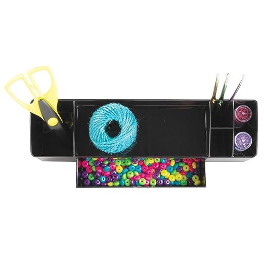 Amazon.com - InterDesign Drawers Portalápices | Accesorio de oficina con 5 compartimentos y 1 cajón | Organizador de escritorio para Material de oficina y ...
