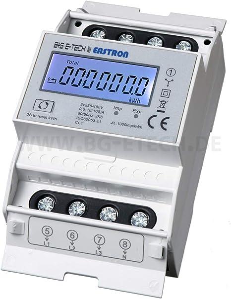 SDM72BiS saldierender digitaler zweirichtungs Drehstromzähler mit momentan Lastanzeige und Tageszählfunktion (rückstellbar)