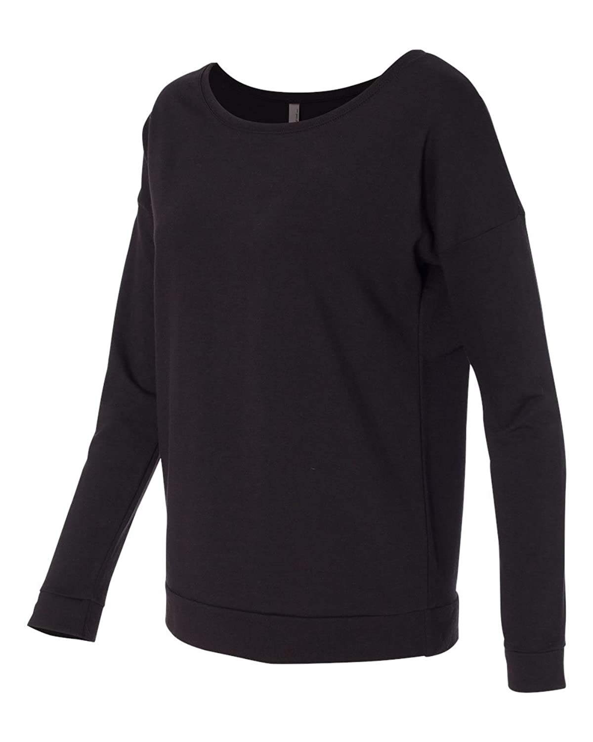Black t shirt for ladies - Next Level Womens Terry Long Sleeve Scoop Tee 6931 At Amazon Women S Clothing Store