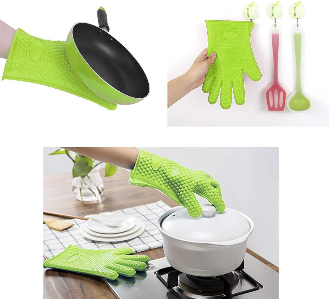 travailler Dooppa /étanche r/ésistant /à la chaleur en silicone Gants de cuisine Grill /& four Gants de travail /à la cuisson barbecue griller 1/paire