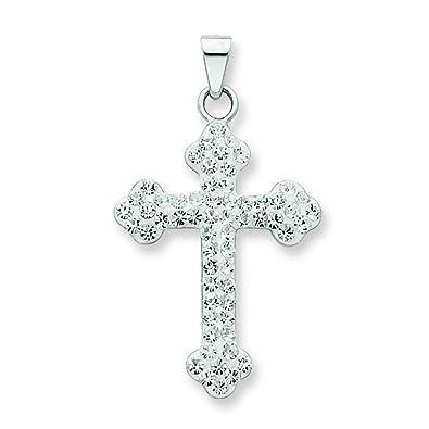Amazon sterling silver swarovski crystal cross necklace sterling silver swarovski crystal cross necklace aloadofball Choice Image