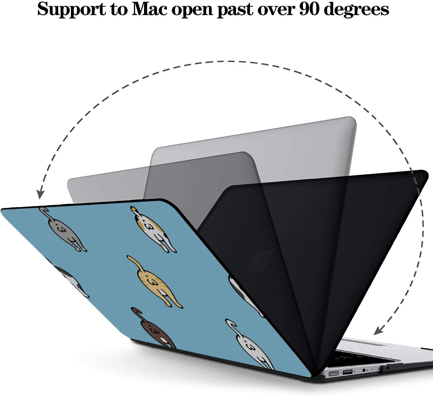 MacBook Pro 15 Cover Cat Funny Breed Balls Plastic Hard Shell Compatible Mac Air 11 Pro 13 15 MacBook Pro 13inch Case Protection for MacBook 2016-2019 Version