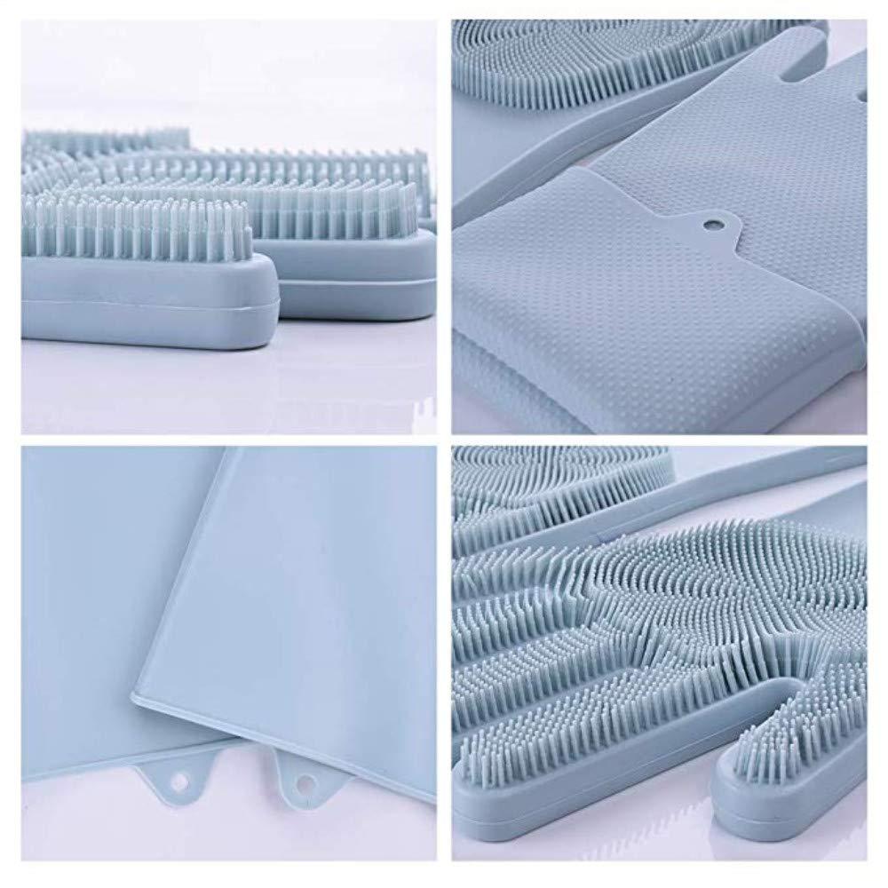 resistente al calor limpieza de vajillas lavado de platos lavado de autos y cuidado de mascotas Wisfruit fregadero reutilizable Guantes de silicona m/ágicos con depurador multiusos