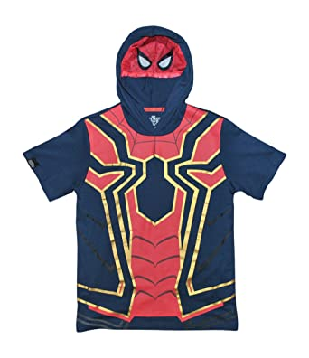 b13b5a323fa Marvel Spiderman Avengers Infinity War Boys Girls Iron Spider Costume Hoodie  Shirt (XXS (4