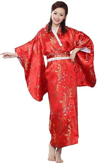 meilleure sélection 56487 94556 Bigood Kimono Mariage Femme Robe de Chambre Costume Japonais ...