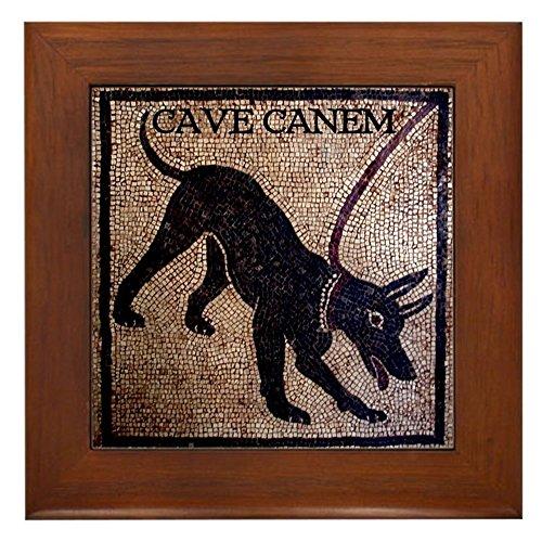 (CafePress Cave Canem Framed Tile, Decorative Tile Wall Hanging)