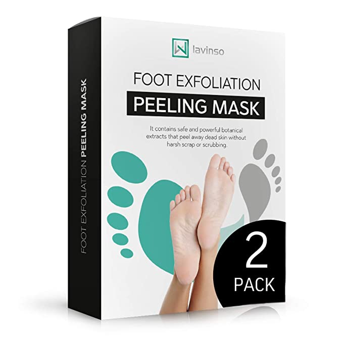 Foot Peel Mask 2 Pack, Peeling Away Calluses and Dead Skin Cells, Make Your Feet Baby Soft, Exfoliating Foot Mask, Repair Rough Heels, Get Silky Soft Feet by Lavinso   Amazon