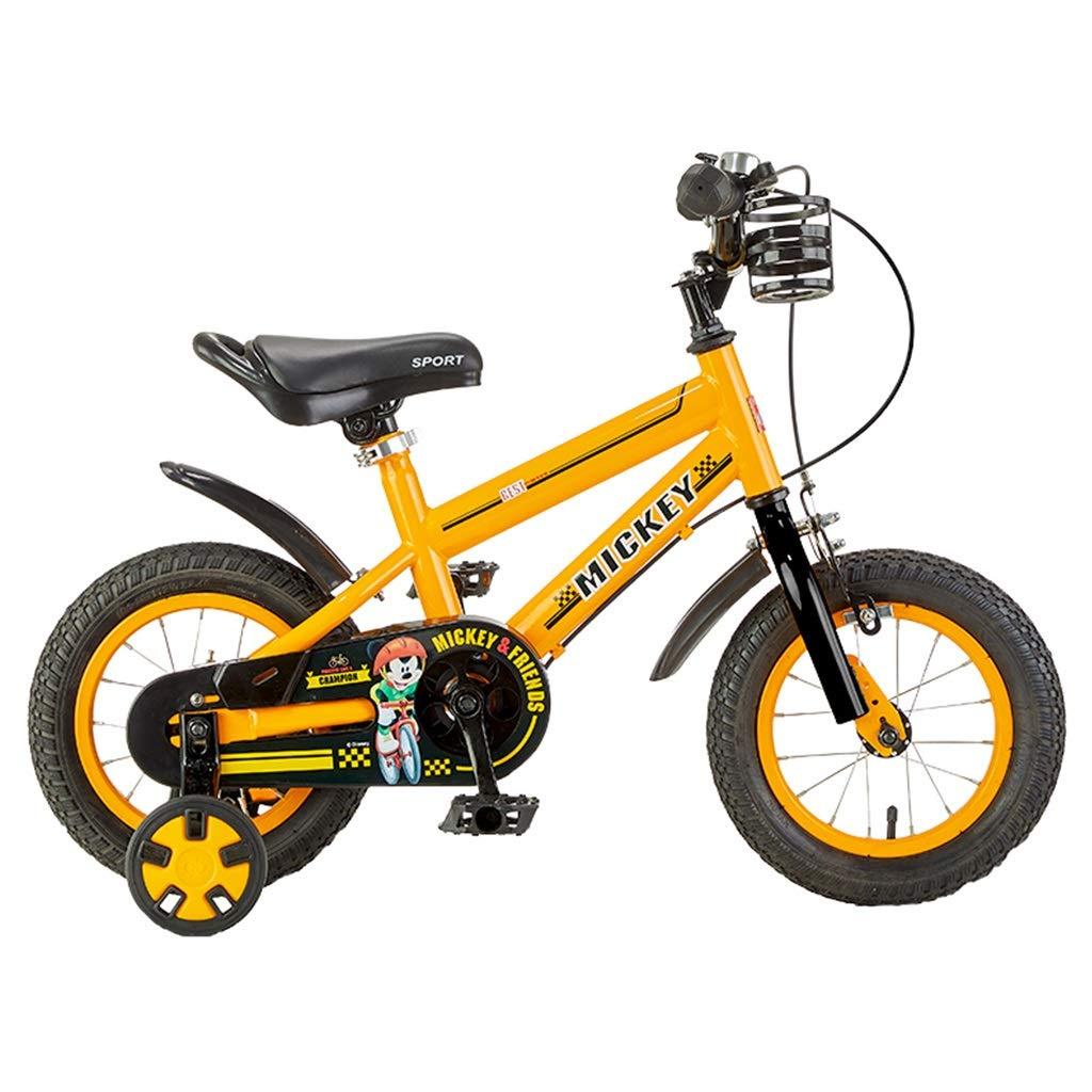 子供用自転車2-4-6-8歳の学生アウトドアスポーツバイク12,14,16インチ自転車女の子の自転車男の子の自転車子供の贈り物 (Color : Orange, Size : 12inches) 12inches Orange B07NYRMLV8
