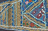 "60"" Table Runner Sari Patchwork-intricate Designs (Wall Hanging As Well)"