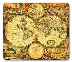 Cultzilla - Alfombrilla para ratón (diseño de mapa del mundo antiguo)