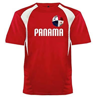 44b6dbfd Custom Panama Soccer Ball 1 Jersey Adult 2X-Large In Scarlet and White