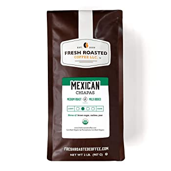 Fresh Roasted Coffee Organic Mexican Chiapas Black Coffee