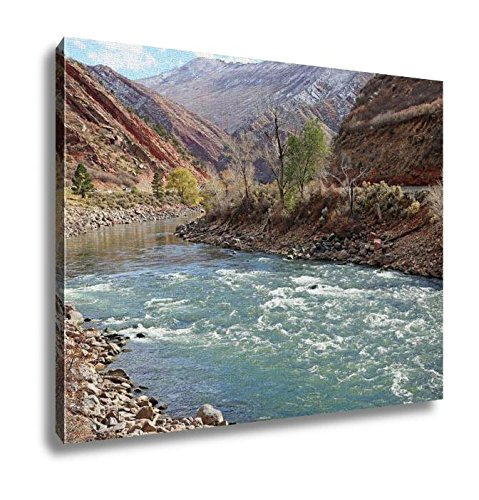 Ashley Canvas, Colorado River In Glenwood Springs, Kitchen Bedroom Dining Living Room Art, 24x30, AG6371323