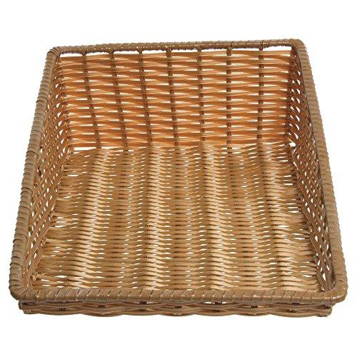 - Tapered Storage Basket, Natural Color, Rectangular - 15 1/2 L x 24