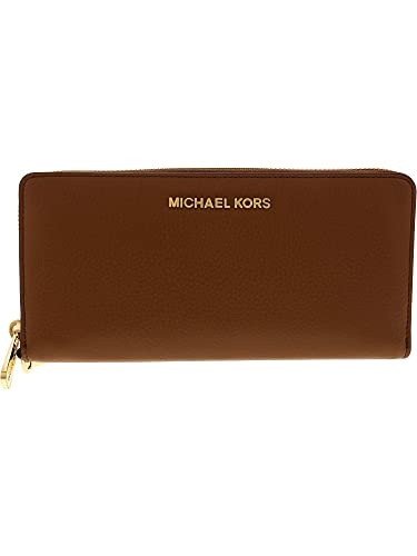 a3cbefa0ff4a86 Michael Kors Women's Jet Set Travel Continental Leather Wristlet - Luggage