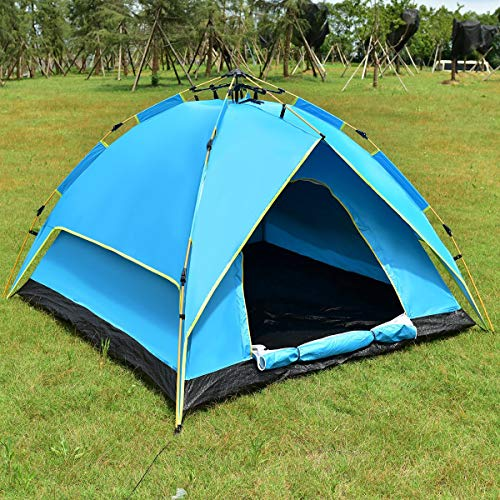 Wenst'sKufAN 2-3 Person Camping Tent Hydraulic Automatic Waterproof Outdoor Sports Hiking Double Layer Indoor Outdoor Playhouse Camping Playground