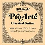 D'Addario J4501 Pro-Arte Nylon Classical Guitar Single String, Normal Tension, First String
