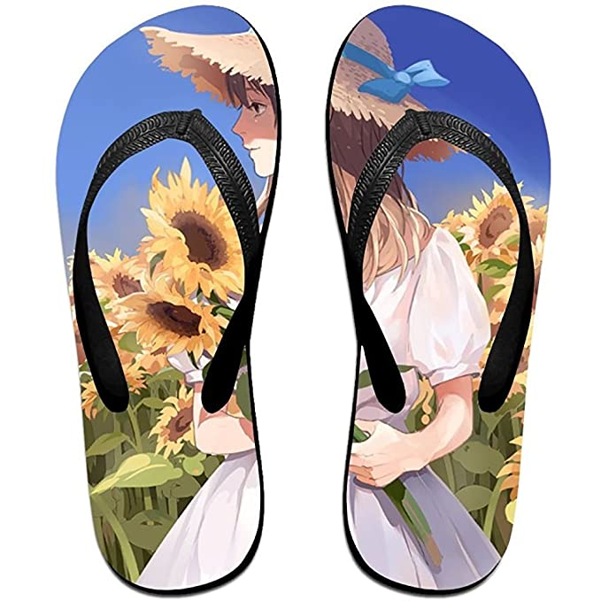 89c45bd3 Amazon.com: Starphilad Unisex Summer Sunflower (1) Beach Slippers Home Flip- Flop Flat Thong Sandal Shoes: Clothing